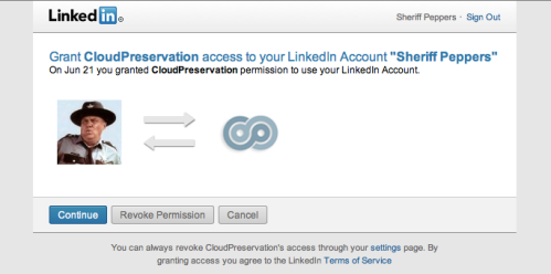 LinkedIn.com Authorization