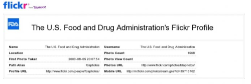 The U.S. Food and Drug Administration's Flickr Profile